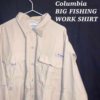コロンビア(Columbia)のColumbia コロンビア ビッグ フィッシング ワーク シャツ 古着 韓国系(シャツ)