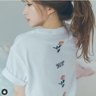 ベリーブレイン(Verybrain)の&lottie tee tシャツ petit rose tee(Tシャツ/カットソー(半袖/袖なし))