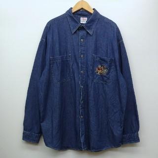 クマノプーサン(くまのプーさん)のくまのプーさん ディズニー デニムシャツ XL(シャツ)