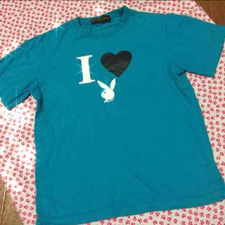 激安多数❤️ターコイズブルー♬プリントT(Tシャツ(半袖/袖なし))