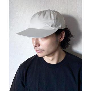 アンダーカバー(UNDERCOVER)のphingerin フィンガリン レザー グレー コットン キャップ 帽子(キャップ)