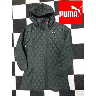 プーマ(PUMA)の【プーマ】レディスLダウン風中綿キルティングジャケットコート黒(ダウンコート)