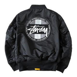 【超希少】Stussy × ALPHA コラボ MA-1 ジャケット
