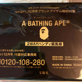 アベイシングエイプ(A BATHING APE)のsmart10月号付録(その他)