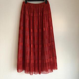 ミュベールワーク(MUVEIL WORK)のMUVEIL WORKのプリーツスカート(ロングスカート)