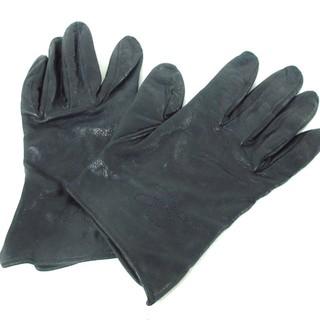ロエベ(LOEWE)のロエベ 手袋 レディース美品  黒 レザー(手袋)