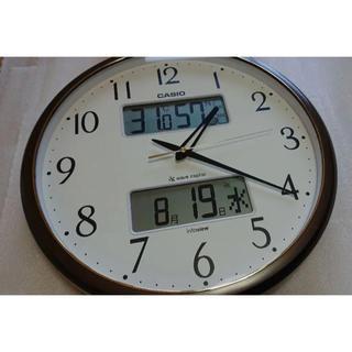 カシオ(CASIO)のCASIO 電波時計 美品(掛時計/柱時計)
