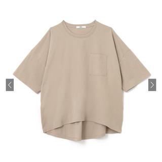 グレイル(GRL)のGRL 胸ポケット付きビッグTシャツ ベージュ(Tシャツ(半袖/袖なし))