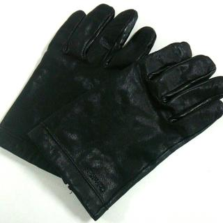 Calvin Klein - カルバンクライン 手袋 L レディース 黒
