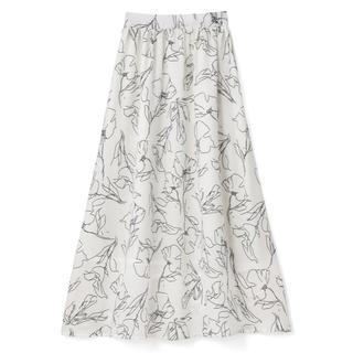 グレイル(GRL)のグレイル 花柄スカート(ひざ丈スカート)