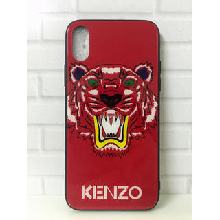 ケンゾー(KENZO)のお洒落なデザイン  ケンゾー  iPhoneケース 赤 XS MAX用(iPhoneケース)