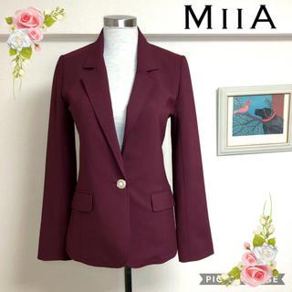 ミーア(MIIA)のミーアMIIA美シルエットジャケット(サイズ1)(テーラードジャケット)