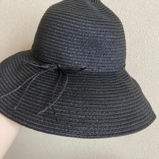 ジーユー(GU)の麦わら帽子 ブラック(麦わら帽子/ストローハット)