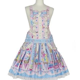 アンジェリックプリティー(Angelic Pretty)のIce cream parlorサロペット ピンク未使用(サロペット/オーバーオール)