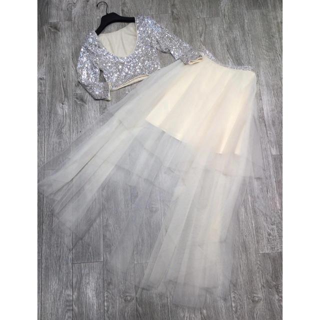 BCBGMAXAZRIA(ビーシービージーマックスアズリア)の❤️BCBG 2020新作 新品 上下セット ドレス 綺麗 レディースのフォーマル/ドレス(ロングドレス)の商品写真