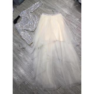 ビーシービージーマックスアズリア(BCBGMAXAZRIA)の❤️BCBG 2020新作 新品 上下セット ドレス 綺麗(ロングドレス)