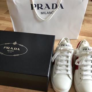 プラダ(PRADA)の本物 未使用 正規店購入 22.5 35.5 PRADA プラダ スニーカー(スニーカー)