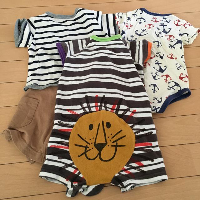 BREEZE(ブリーズ)のBREEZE 3枚セット キッズ/ベビー/マタニティのベビー服(~85cm)(ロンパース)の商品写真