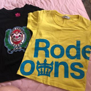 ロデオクラウンズワイドボウル(RODEO CROWNS WIDE BOWL)のRCWB キッズTシャツ 二枚セット M 110位 ロデオクラウン  子供服(Tシャツ/カットソー)