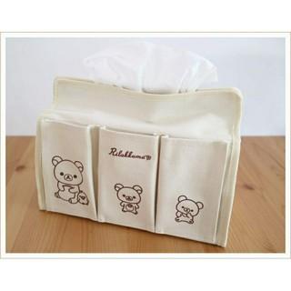 サンエックス(サンエックス)のリラックマ 6ポケット付きティッシュBOXケース(ティッシュボックス)