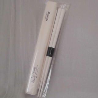 スヌーピー(SNOOPY)の☆シンプル&クールな「スヌーピー」の箸&箸箱セット(日本製)☆(カトラリー/箸)