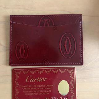 カルティエ(Cartier)の値下げ!美品 カルティエ ハッピーバースデイ カードホルダー(名刺入れ/定期入れ)