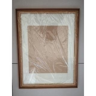 額縁 ガラス透明板 新品未使用品 フォトフレーム木製(写真額縁)
