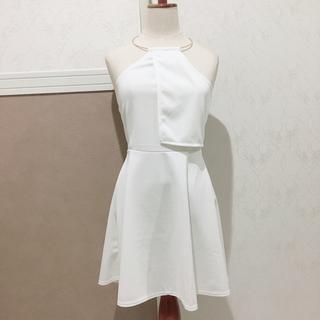 ジュエルズ(JEWELS)のネックリングワンピース キャバ ブライダル ドレス 結婚式(ナイトドレス)