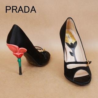PRADA - PRADA プラダ 35 1/2 黒 イタリア製 ハイヒール