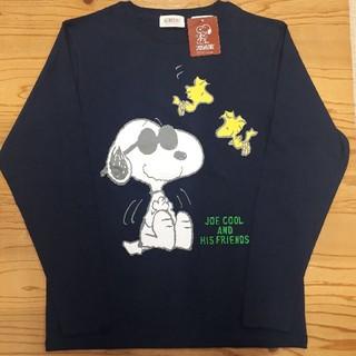 ピーナッツ(PEANUTS)の新品タグ付き 紺 スヌーピー ロンT(Tシャツ/カットソー(七分/長袖))