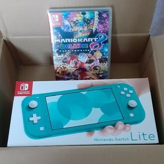 ニンテンドースイッチ(Nintendo Switch)の専用♡マリオカート8ソフト&Switch ライト本体セット (家庭用ゲーム機本体)