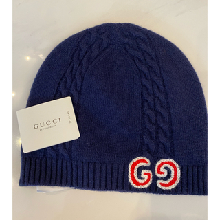 グッチ(Gucci)のGUCCI チルドレン ニット帽 L M(帽子)
