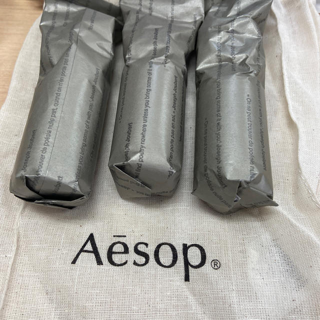 Aesop(イソップ)のイソップ  巾着 リンスフリー 3本セット コスメ/美容のボディケア(ハンドクリーム)の商品写真