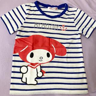 マイメロディ(マイメロディ)のマイメロディ 半袖Tシャツ ボーダー 100(Tシャツ/カットソー)