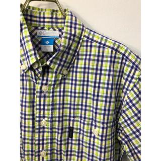 コロンビア(Columbia)の美品 Colombia コロンビア チェック ボタンダウン 半袖シャツ S(シャツ)