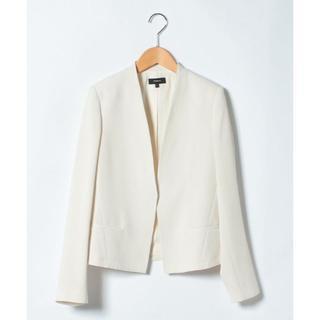 theory - 美品 セオリー 18SS ノーカラー ジャケット オフホワイト