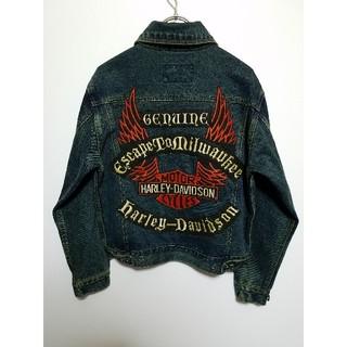 ハーレーダビッドソン(Harley Davidson)のハーレーダビッドソン デニムジャケット Gジャン デカロゴ(Gジャン/デニムジャケット)
