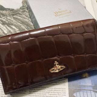 ヴィヴィアンウエストウッド(Vivienne Westwood)の【Vivienne Westwood】箱付 クロコダイル型押 エナメル長財布(財布)