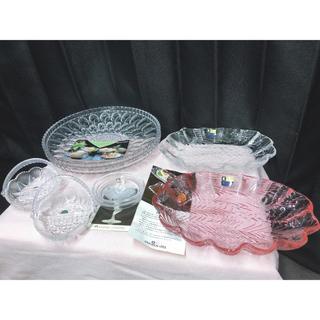 トウヨウササキガラス(東洋佐々木ガラス)の8枚食器 ホヤ クラタガラス 佐々木ガラス 曽我ガラス 未使用(食器)