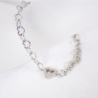 ポンテヴェキオ(PonteVecchio)のポンテヴェキオ K18WG ダイヤモンド ハート ブレスレット[g272-9](ブレスレット/バングル)