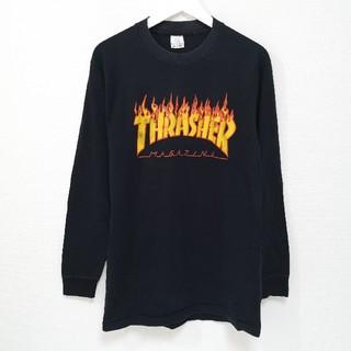 スラッシャー(THRASHER)の90s THRASHER スラッシャー FLAME ロンT Tシャツ USA製(Tシャツ/カットソー(七分/長袖))