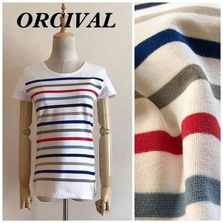 オーシバル(ORCIVAL)のORCIVAL ボーダーTシャツ サイズ14(Tシャツ(半袖/袖なし))