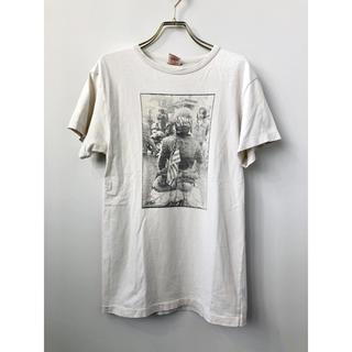 キャリー(CALEE)のCALEE キャリー Q-Ball コラボ バイカーフォトT Tシャツ 丸首 S(Tシャツ/カットソー(半袖/袖なし))
