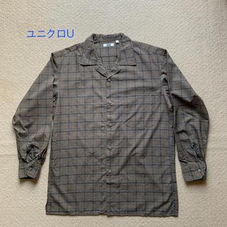 ユニクロU チェックオープンカラーシャツ(シャツ)