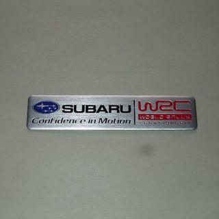 【SUBARU・WRC】スバル・エンブレム◆シルバー アルミ ステッカー◆新品