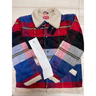 シュプリーム(Supreme)のSupreme Plaid Shearling Bomber jacket (毛皮/ファーコート)