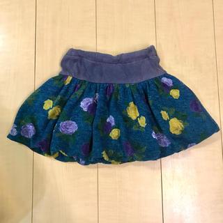 アナスイミニ(ANNA SUI mini)のANNA SUI mini 100cm 110cm バルーンスカート 花柄 秋冬(スカート)