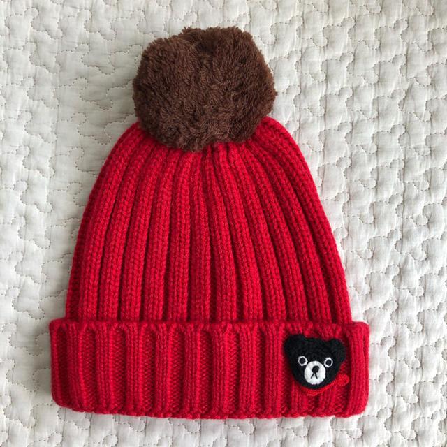 mikihouse(ミキハウス)のmikihouse ニット帽 キッズ/ベビー/マタニティのこども用ファッション小物(帽子)の商品写真