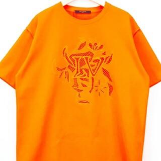 ルイヴィトン(LOUIS VUITTON)のLVヴェジェトゥルレースエンブロイダリーTシャツ XS オレンジ(Tシャツ/カットソー(半袖/袖なし))