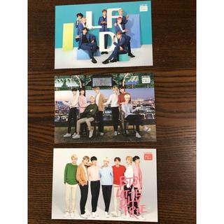 ボウダンショウネンダン(防弾少年団(BTS))のBTS 絵葉書 3枚セット 韓国(写真/ポストカード)